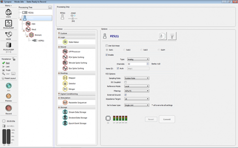 Synapse Software interface